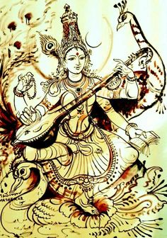 VK is the largest European social network with more than 100 million active users. Saraswati Painting, Tanjore Painting, Saraswati Goddess, Goddess Art, Shiva Shakti, Durga, Art Room Posters, Lord Ganesha Paintings, Kalamkari Painting