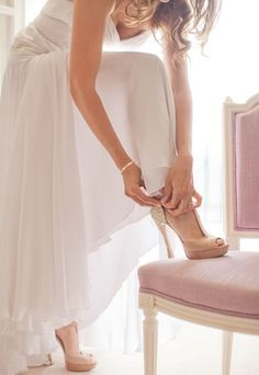 Bridal Shoes by Miu Miu. Photo by Katy Lunsford Photography. Just Girly Things, Wedding Pics, Wedding Styles, Look Formal, Bridal Gowns, Wedding Dresses, Bridal Shoes, Glamour, Wedding Preparation