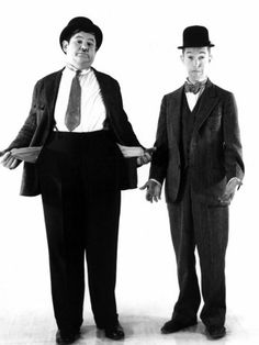 Laurel and Hardy. My first memories of TV was watching movies of them.