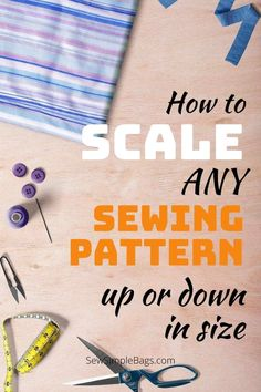 How to easily scale or resize any pdf sewing pattern to make it larger or smaller. With a few mouse clicks you can easily change the size on any pdf digital sewing pattern and make it print larger or smaller. All of the pieces will scale perfectly to the new size so the printer does all of the work for you. Easy beginner video tutorial included too. Sewing Hacks, Sewing Tutorials, Sewing Tips, Sewing Ideas, Pdf Sewing Patterns, Print Patterns, Simple Bags, Sew Simple, Patterned Sheets