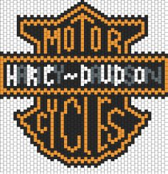 Harley Davidson Bead Pattern | Peyote Bead Patterns | Misc Bead Patterns