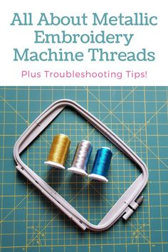 Machine Embroidery Gifts, Brother Embroidery Machine, Free Machine Embroidery Designs, Embroidery Machines, Brother Sewing Machines, Metallic Thread, Embroidery Techniques, Helpful Tips, Threading Machine