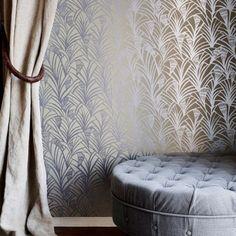 Sfeerbeeld Art Deco Behang Charlottes Fan van Tapet Cafe. Verkrijgbaar bij homedeluxe.nl