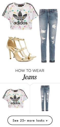 """jeans look"" by satpal-sarita on Polyvore featuring adidas Originals, Joe's Jeans and Dee Keller"