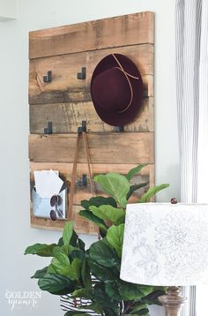 rustic DIY coat rack