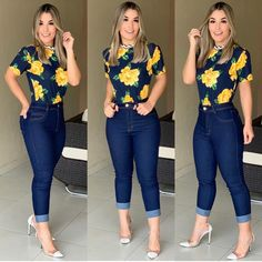 A imagem pode conter: 3 pessoas, pessoas em pé e sapatos in 2020 Curvy Outfits, Classy Outfits, New Outfits, Chic Outfits, Beautiful Outfits, Plus Size Outfits, Summer Outfits, Trendy Outfits, Work Casual