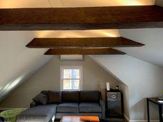 We proudly offer the Ekena Millwork (U-Beam) Sandblasted Endurathane Faux Wood Ceiling Beam Wood Ceilings, Ceiling Beams, Faux Wood Beams, Real Wood, Shelves, Rustic, Interior, Room, Home Decor