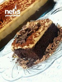 Coffe Cake to the the Chocolate Dipped, Chocolate Cake, Short Pastry, Baklava Recipe, Brownie Cake, Pastry Cake, Turkish Recipes, Ice Cream Recipes, Frozen Yogurt
