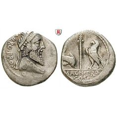 Römische Republik, Cn. Pompeius Magnus und Terentius Varro, Denar 45 v.Chr., ss: Cn. Pompeius Magnus und Terentius Varro 49 v.Chr.… #coins