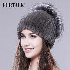 977002bd64f Whole set of rex rabbit fur hat sliver fox fur hat Russian fur hat winter  beanie