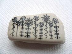 English sea pottery or a stone