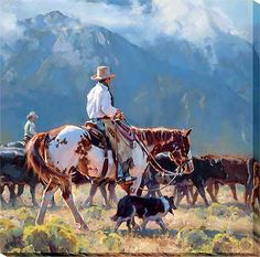 F726502081:Leaving Cold Water Canyon - Wrapped Canvas by Jason Rich
