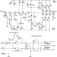 balanced input output pre amplifier circuit 5200 in 2019 150w power amplifier using transistor
