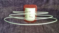 Vintage Metal Retro 40's 50's Drip n' Dry Red/White 3 Tier Wall Clothes Dryer!!!