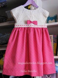 Minhas amigas   As princesinhas encantam-se com este modelo de vestido.   Para esta menina de 5 anos foi escolhido um padrão diferente do...