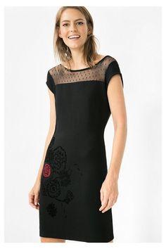 Vestido negro para mujer Clemente Desigual. Descubre la colección otoño-invierno 2016. ¡Devoluciones y envío a tienda gratis!