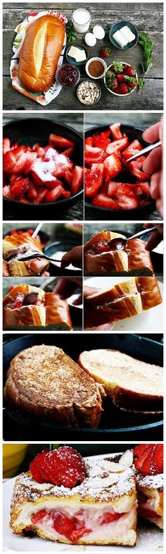 Stuffed French Toast- made this tonight fir Val's day. So flippin good!! I doubled the cream cheese and fruit jam and got 8 slices out of the French bread loaf. Feb-2014