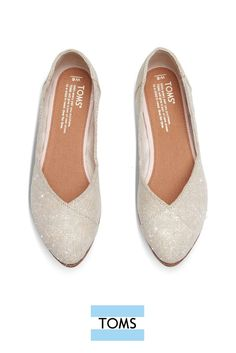 Natural Metallic Burlap Women's Jutti Flats from TOMS. This limited edition  slip-on shoe