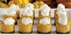 Mini Pumpkin Cheesecakes with Cinnamon Whipped Cream