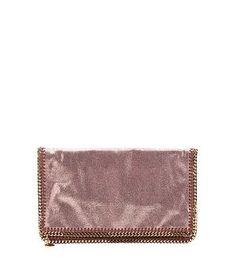 copper vegan suede 'Falabella' foldover clutch - on #sale 28% off @ #Bluefly