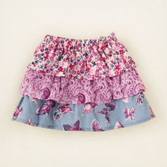 baby girl - bottoms - mixed print skort | Children's Clothing | Kids Clothes | The Children's Place