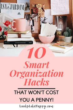 10 Smart Organization Hacks That Won't Cost You a Penny! - Looks Like Happy    #organization #hacks #lifehacks #storagesolutions #organizationideas #free #diy