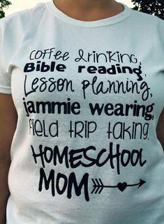 HomeSchool Mom Vinyl Shirt by CutesyTDesigns on Etsy