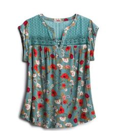 Floral Blouse From Stitch Fix Style Shuffle Floral Blouse From Stitch Fix Style Shuffle Toddler Girl Bathing Suit, Girls Bathing Suits, Stitch Fix Outfits, Halter One Piece Swimsuit, Stitch Fix Stylist, Floral Blouse, Sewing Clothes, Blouse Designs, Spring Outfits