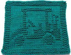 Knitting Cloth Pattern - GOLF CART - PDF