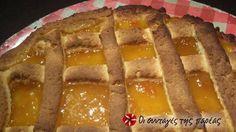 Εύκολη πάστα φλώρα Hot Dog Buns, Hot Dogs, Greek Sweets, Greek Recipes, Meatloaf, Waffles, Flora, Pie, Pasta