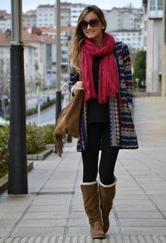 Botas con chiporro y abrigos de lana