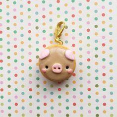 Kawaii Animal Pancake Charm  Polymer Clay Charms  by YunaCharms