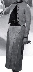 The Vintage Pattern Files: Free 1930's Knitting Pattern - Suburban 3 Piece Modeen and Featherdown Suit