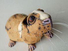 Guinea Pig Ceramic Animal Sculpture by RudkinStudio on Etsy