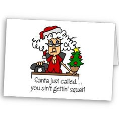 What kind of card should you attach with a holiday gag gift? Definitely one of these rude Christmas cards.
