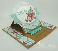 So Very Grateful easel card - Retro Fresh DSP stack, Oval framelits, banner framelits - Rebecca Scurr - Independent Stampin' Up! demonstrator - www.the paperandstampaddict.com.au