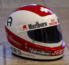 Clay Regazzoni Vintage Helmet, Vintage Racing, Formula 1, Clay Regazzoni, Motorcycle Equipment, Helmet Paint, Racing Helmets, Helmet Design, Car And Driver