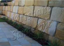 Brisbane Sandstone is providing high quality sandstone pavers, sandstone cladding, sandstone tiles and retaining wall blocks for commercial and residential purposes. Sandstone Cladding, Sandstone Pavers, Steep Backyard, Retaining Wall Blocks, Landscaping Retaining Walls, Brisbane Queensland, House Landscape