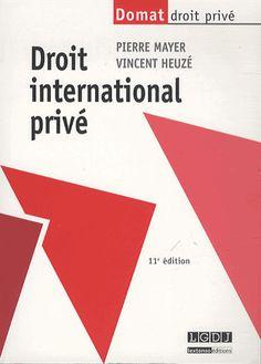 Droit international privé 11e édition