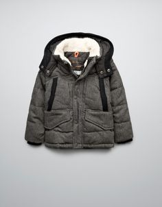 PADDED JACKET WITH HOOD - Coats - Boy (2-14 years) - Kids - ZARA