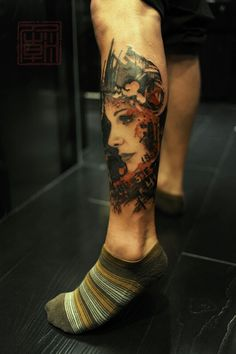 Face tattoo, just amazing