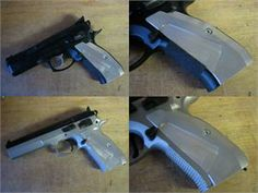 CZ 75 Thin, Long, Silver Grips