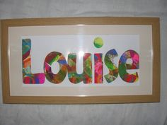 Had students glue down tissue paper on several big sheets of poster board-let dry-traced letters onto it-cut out and glued onto their own sheet of paper to spell out their name.