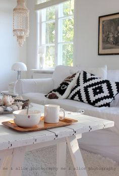 Love this white living room.