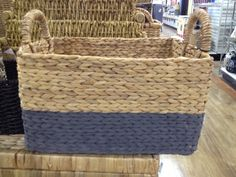 Love these baskets with painted bottoms! Stylish way to corral mail or kids toys. Spotted at Homegoods for $7.89-$14.99