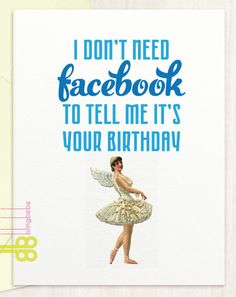 """- I Don't Need Facebook - Coordinating envelope - Blank inside - Size A2, 4.25"""" x 5.5"""" - watermark logo on bottom left corner NOT on card"""