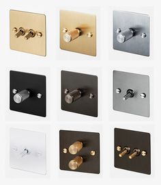 Light switches and dimmers by Buster + Punch