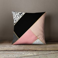 Contemporary Pillow Accent Pillow Accent by wfrancisdesign Contemporary Pillows, Modern Pillows, Patchwork Pillow, Quilted Pillow, Cushion Cover Designs, Cushion Covers, Cushion Embroidery, Learning To Embroider, White Decorative Pillows