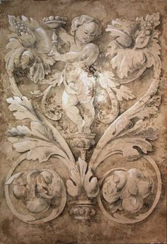 Architectural Salvage, Architectural Elements, Fresco, Natural Weave, Gris Rose, Ceiling Medallions, French Decor, Arabesque, Painted Furniture
