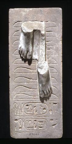Sandstone statue base of Ramses II